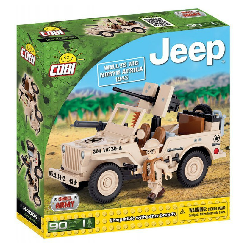 SMALL ARMY - JEEP Willys MB severní Afrika, 90 k, 1f