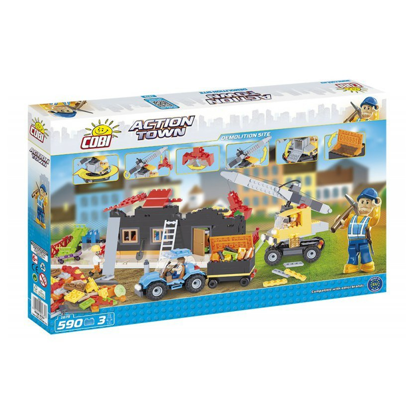 Cobi 1675 ACTION TOWN Demolice 590 k, 3 f